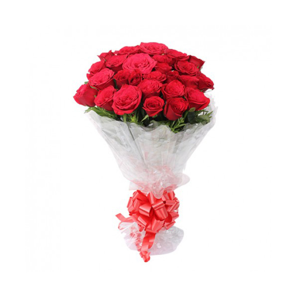 Adorable 24 Red Roses Bunch